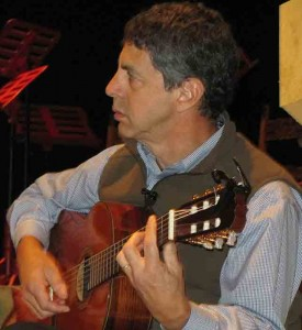 Howard Bass playing some flamenco guitar in this year's Christmas Revels