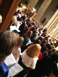 Washington InterFaith Concert - view of combined choir