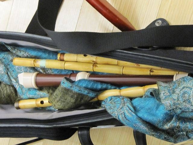 Daphna's bag of recorders and neys