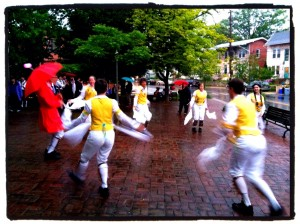 The Rock Creek Morris Women bringing in the May (May 1, 2012) at the Takoma Park Gazebo.