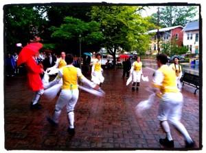 The Rock Creek Morris Women bringing in the May (May 1, 2012) at the Takoma Park Gazebo.