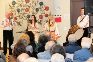 Dossevi (with Bryndyn Wiener) performing at the Washington Revels Office