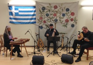Spyros Koliavasilis and Karpouzi Trio playing a Salon Concert on November 15, 2013.
