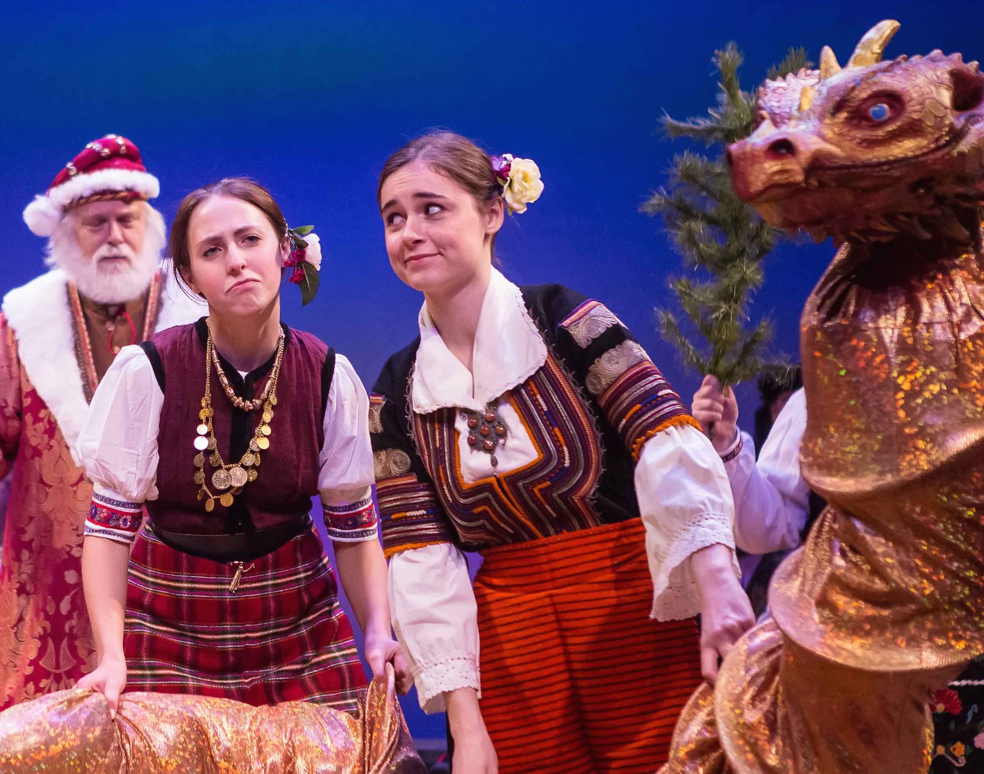 clare in the 2013 teen chorus in our balkan christmas revels - The Christmas Revels