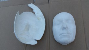 Mold and cast shown together